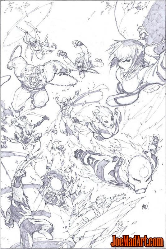 X-Men #1 50th Anniversary Variant cover (Pencil)