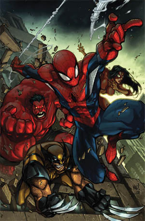 Avenging Spider-Man Volume 1 issue #1 cover (Color)