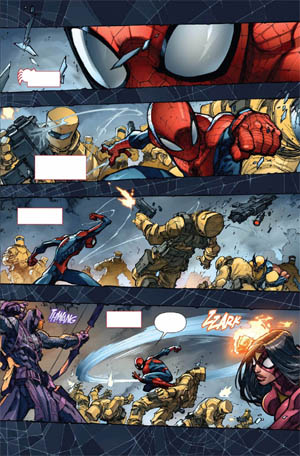Avenging Spider-Man Volume 1 issue #1 page 1 (Color)