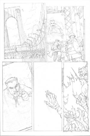 Avenging Spider-Man Volume 1 issue #1 page 4 (Pencil)
