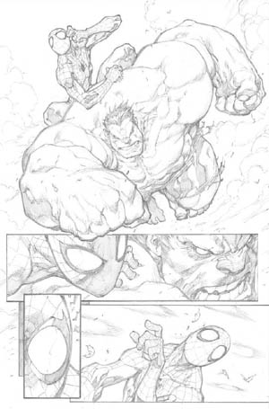 Avenging Spider-Man Volume 1 issue #1 page 11 (Pencil)