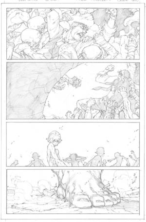Avenging Spider-Man Volume 1 issue #1 page 13 (Pencil)