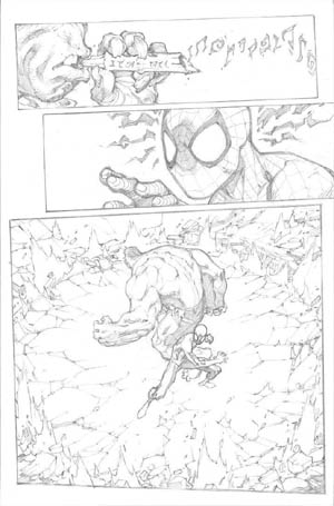 Avenging Spider-Man Volume 1 issue #1 page 15 (Pencil)