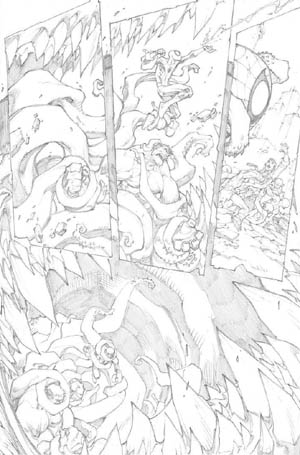 Avenging Spider-Man Volume 1 issue #1 page 17 (Pencil)