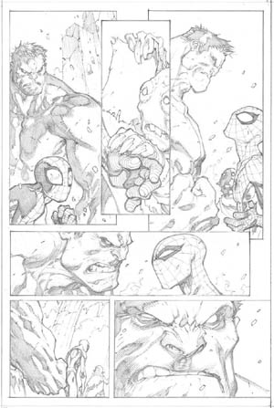 Avenging Spider-Man Volume 1 issue #2 page 11 (Pencil)