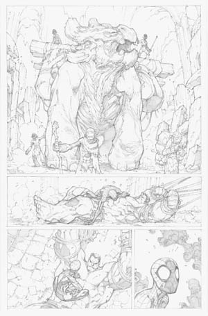 Avenging Spider-Man Volume 1 issue #2 page 6 (Pencil)