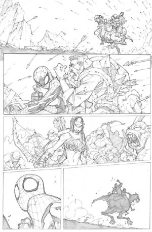 Avenging Spider-Man Volume 1 issue #3 page 1 (Pencil)