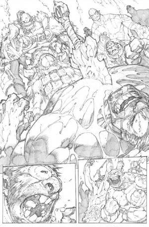 Avenging Spider-Man Volume 1 issue #3 page 2 (Pencil)