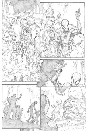 Avenging Spider-Man Volume 1 issue #3 page 3 (Pencil)