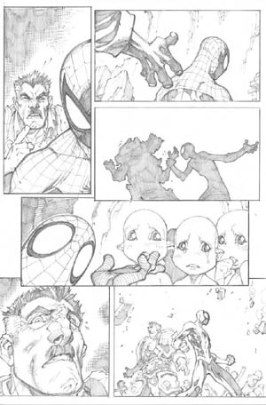 Avenging Spider-Man Volume 1 issue #3 page 4 (Pencil)