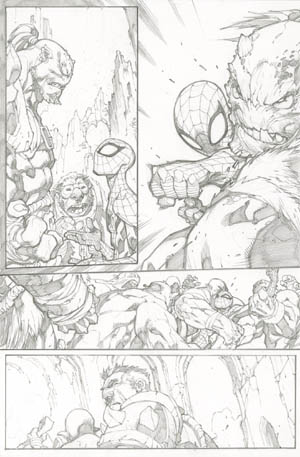 Avenging Spider-Man Volume 1 issue #3 page 7 (Pencil)