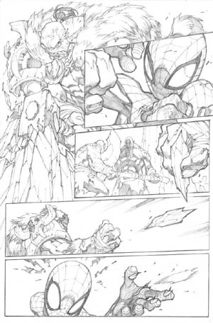 Avenging Spider-Man Volume 1 issue #3 page 8 (Pencil)