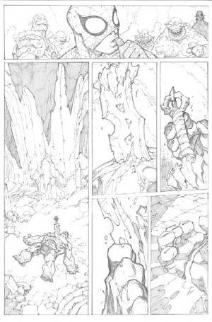 Avenging Spider-Man Volume 1 issue #3 page 9 (Pencil)