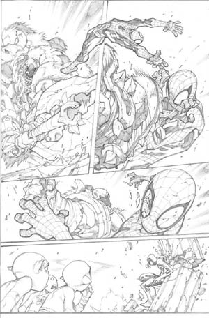 Avenging Spider-Man Volume 1 issue #3 page 10 (Pencil)