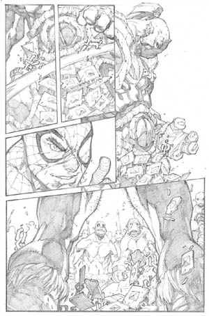 Avenging Spider-Man Volume 1 issue #3 page 13 (Pencil)