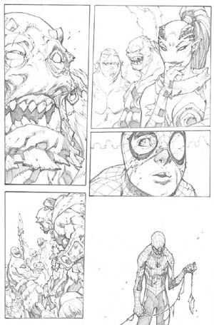 Avenging Spider-Man Volume 1 issue #3 page 14 (Pencil)