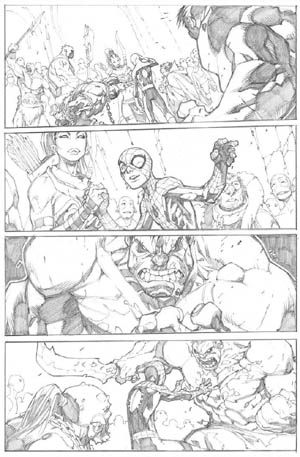 Avenging Spider-Man Volume 1 issue #3 page 17 (Pencil)