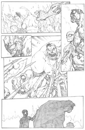 Avenging Spider-Man Volume 1 issue #3 page 18 (Pencil)