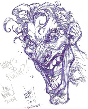 Joker convention sketch for Achim Reinecke