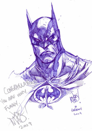 Batman Comic Action convention sketch