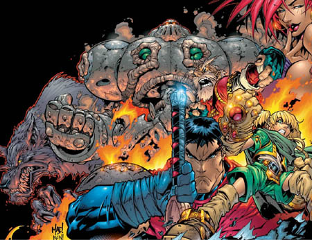 Battle Chasers #1 cover (Color)