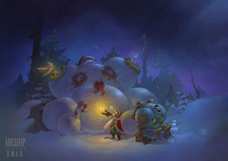 Battle Chasers Christmas card gift 2015 (Color)