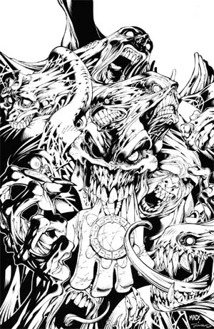 Battle Chasers #7 cover (Ink)