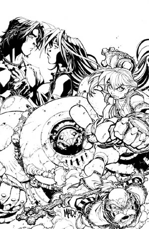 Battle Chasers #9 cover (Ink)