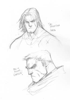 Battle Chasers Anthology Garrison portrait sketchs (Pencil)