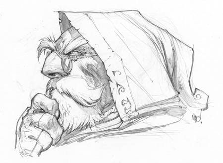 Battle Chasers Anthology Knolan portrait sketch (Pencil)