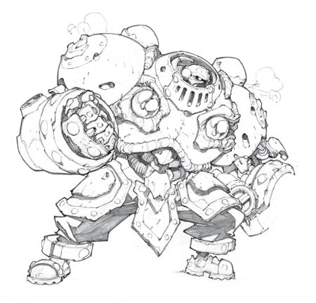 Battle Chasers NightWar Calibretto 1st concept (Pencil)