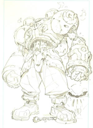 Battle Chasers Calibretto sketch (Pencil)