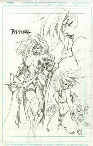 Battle Chasers Collected Edition #1 Red Monika sketch (Pencil)