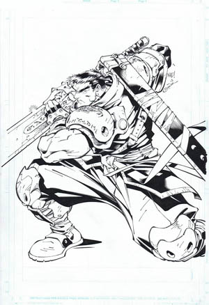 Wizard The Comics Magazine #78 cover (Ink)
