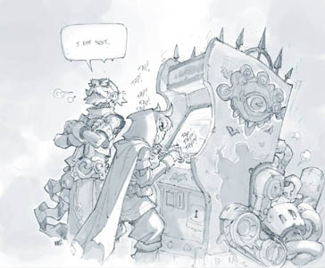 Battle Chasers Nightwar game tavern mini game stretch goal (Pencil)