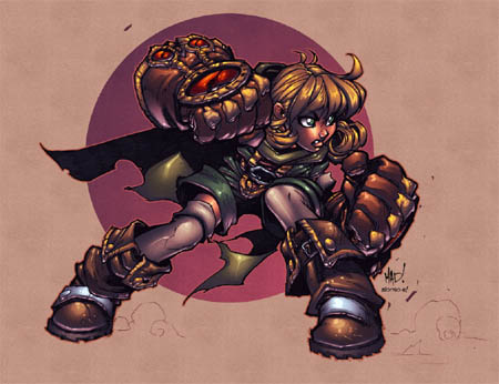 Gully concept art for Battle Chasers game (Color)