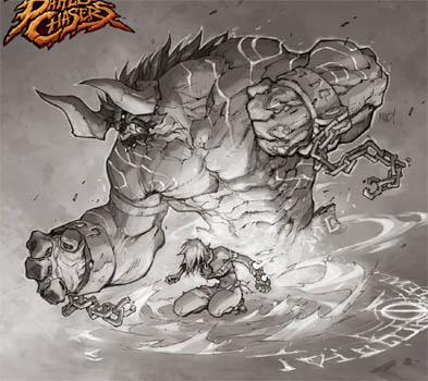 Battle Chasers Nightwar game creature concept art: Bulgrim (Texture)