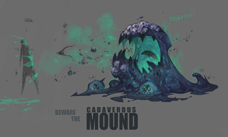Battle Chasers NightWar Cadaverous Mound concept art