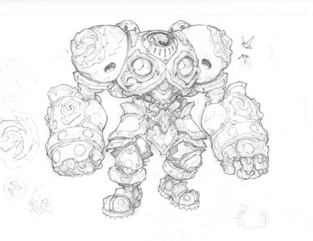 Battle Chasers NightWar Calibretto concept art (Pencil)