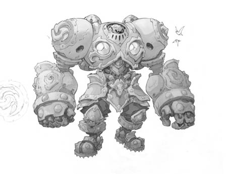Battle Chasers NightWar Calibretto concept art (Texture)