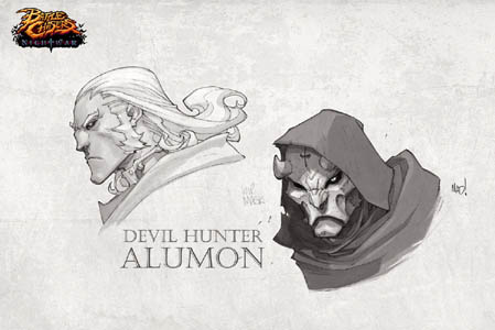Battle Chasers Nightwar game Devil hunter Alumon (Texture)