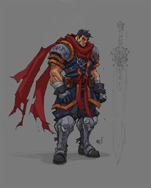 Battle Chasers Nightwar game Garrison 1st sketch (Color)