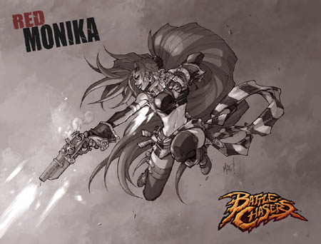 Battle Chasers Nightwar game Red Monika 1st wallpaper (Texture)