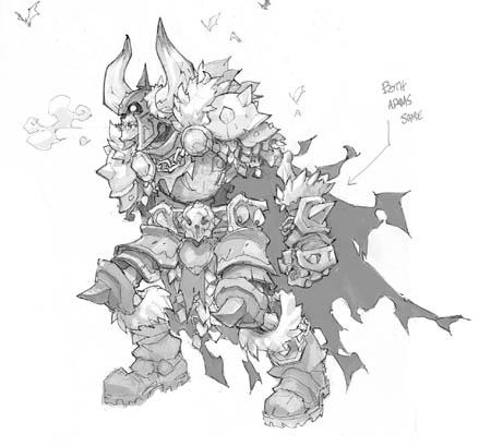 Battle Chasers NightWar Skeleton Champion concept art