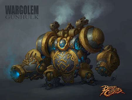 Battle Chasers Nightwar game WarGolem (Color)