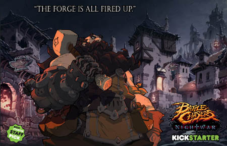 Battle Chasers NightWar Blacksmith wallpaper (Color)