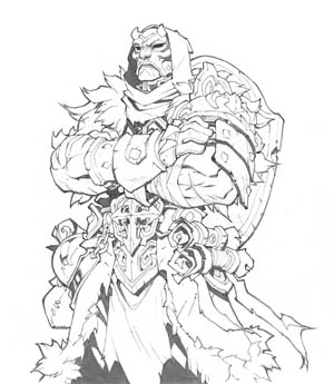 Battle Chasers Nightwar in-game Alumon Portrait (Pencil)