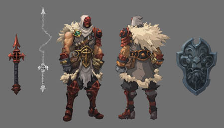 Battle Chasers NightWar Alumon concept art