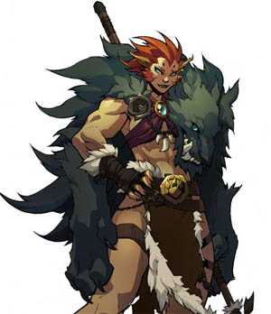 Battle Chasers Nightwar in-game Beastmaster art (Color)