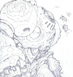 Battle Chasers Nightwar in-game Calibretto Portrait (Pencil)